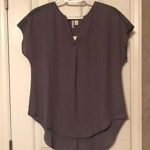 Gray High-Low Blouse